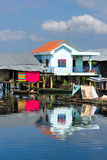 Modern and old  House on the river,  Cambodia. Stock Photography