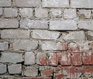 Modern old white brick wall Royalty Free Stock Photos