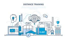Modern onderwijs, het leren technologieën, verre online cursussen stock illustratie