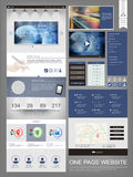 Modern one page website design template Royalty Free Stock Photography
