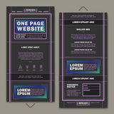 Modern one page website template design Stock Images