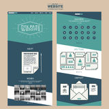 Modern one page website template design Stock Image