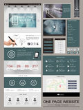 Modern one page website template design royalty free illustration