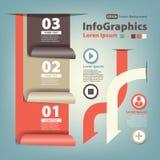 Modern Ontwerp genummerd bannersmalplaatje met ribbo Stock Afbeelding
