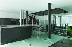 Modern ontwerp, keuken Stock Foto
