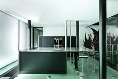 Modern ontwerp, keuken Stock Afbeeldingen