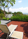 Modern ontwerp terras & het modelleren Royalty-vrije Stock Fotografie