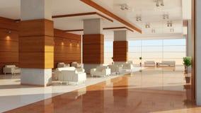 Modern ontwerp van een binnenland van een zaal Royalty-vrije Stock Foto's