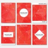 Modern ontwerp voor brochure, boekje, vlieger, dekking, jaarverslag Abstracte structuurmolecule en mededeling Vector Illustratie