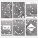 Modern ontwerp voor brochure, boekje, vlieger, dekking, jaarverslag Abstracte structuurmolecule en mededeling Royalty-vrije Illustratie