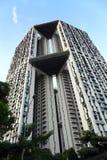 Modern ontwerpflatgebouw met koopflats met hemeltuin Royalty-vrije Stock Fotografie