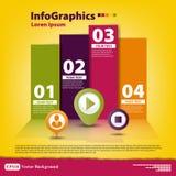 Modern Ontwerpmalplaatje voor infographics Stock Fotografie