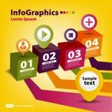 Modern Ontwerpmalplaatje voor infographics Stock Afbeeldingen
