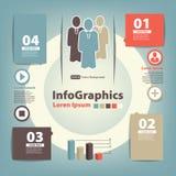 Modern Ontwerpmalplaatje voor infographics Royalty-vrije Stock Foto