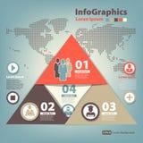 Modern Ontwerpmalplaatje voor infographics met pyram Royalty-vrije Stock Afbeelding