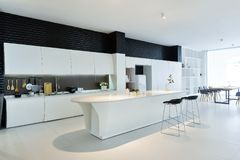 Modern open kitchen. Kitchen interior of modern home Stock Images