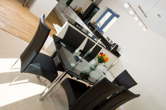Modern open plan dining area Stock Photography