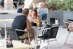 Modern openluchtwinkelcomplex in Israël Royalty-vrije Stock Foto