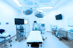 Modern operating room take with blue filter Stock Images