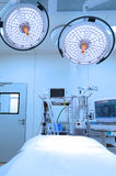 Modern operating room take with blue filter Royalty Free Stock Images