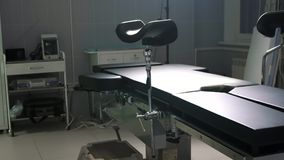 Modern operating table medical devices ,operating room dolly. Modern operating table medical devices ,operating room medical devices Stock Photography