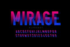 Free Modern Optical Illusion Style Font Stock Photos - 169289083