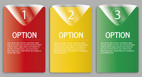 Modern option banner Stock Photo