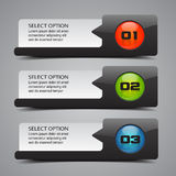 Modern Option Banners Stock Photography