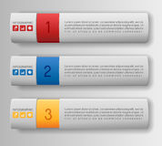 Modern option banners. Modern infographics options banners, box design Stock Photography
