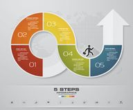 Modern 5 options arrow chart presentation business infographics template. EPS 10 Royalty Free Stock Image