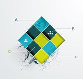 Modern options banner. Can be used for workflow layout, infographics, number llines, web design Stock Photography