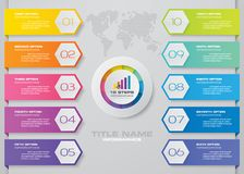 Modern 10 options presentation business infographics template royalty free stock images