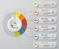 Modern 3 options presentation business infographics template. EPS 10. Royalty Free Stock Photos