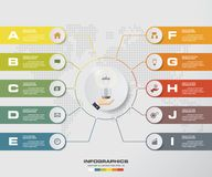 Modern 10 options presentation business infographics template. EPS 10. Stock Images