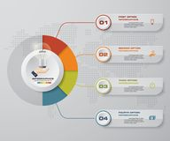 Modern 4 options presentation business infographics template. EPS 10. Royalty Free Stock Image