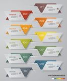 Modern 10 options presentation business infographics template. EPS 10. Royalty Free Stock Image