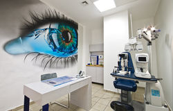 Modern optometrist diopter Stock Images