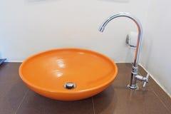 Modern orange basin Royalty Free Stock Image