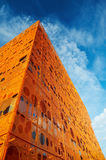 Modern orange building Royalty Free Stock Image