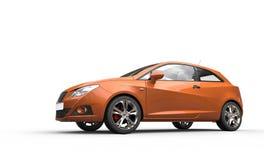 Modern Orange Car Stock Images