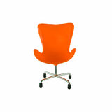 Modern orange chair. Isolated on white background royalty free stock photo