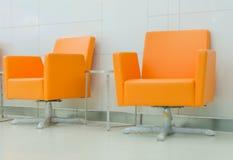 Modern orange chair style in room Stock Photo