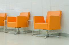Modern orange chair style in room Royalty Free Stock Image
