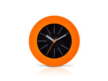 Modern orange clock Stock Image