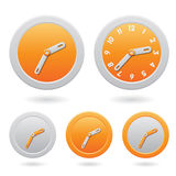 Modern Orange Clocks  on White Stock Photo