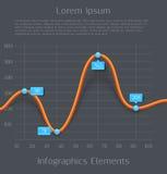 Modern orange 3d business diagram graph Royalty Free Stock Photos