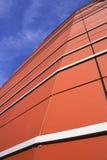 modern orange för facade Arkivfoton
