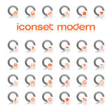 modern orange för iconset stock illustrationer