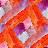 Modern orange, purple seamless  watercolor artist wallpaper text Stock Photography