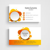Modern orange round business card template Stock Image